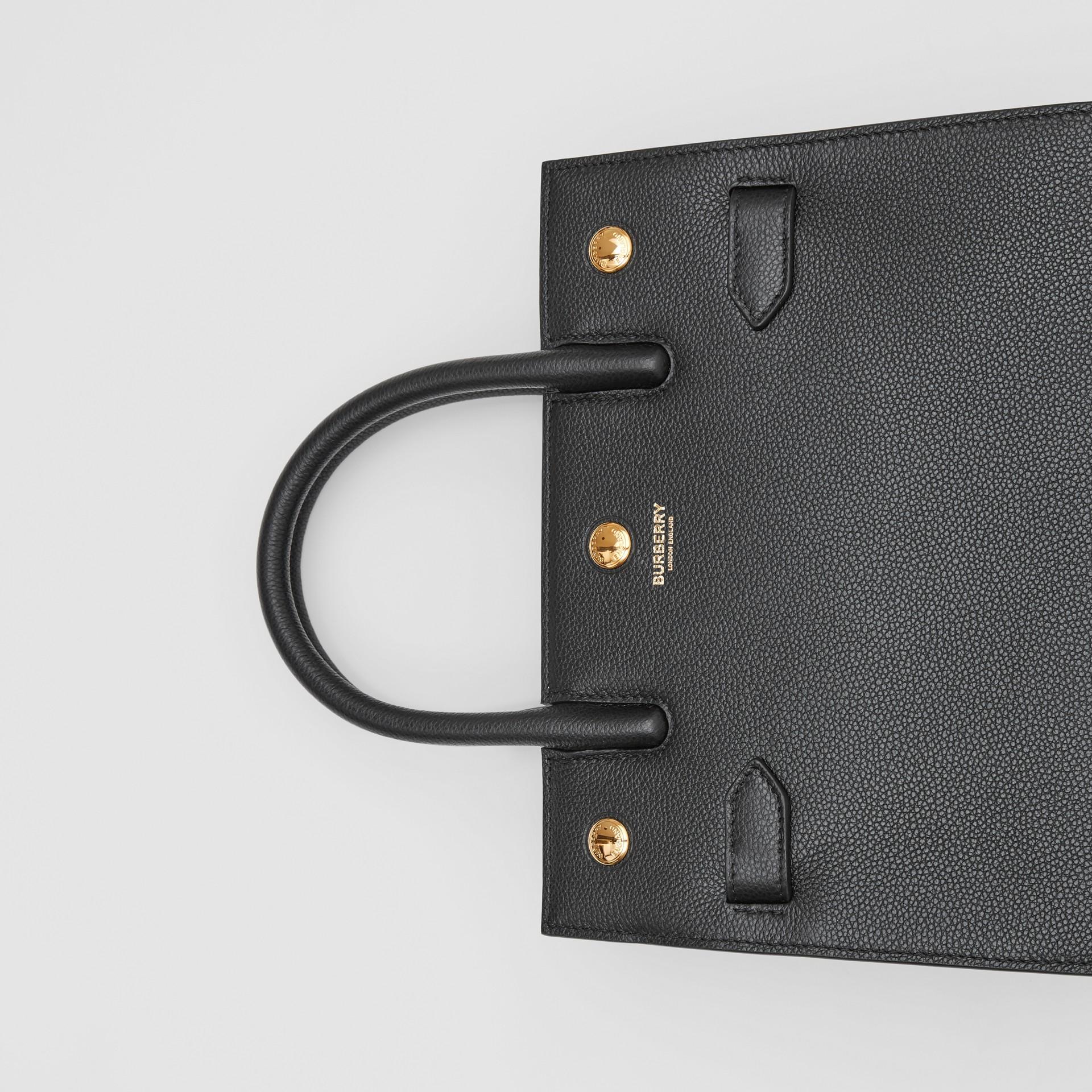 ミニ レザー ツーハンドル タイトルバッグ (ブラック) - ウィメンズ | バーバリー - ギャラリーイメージ 1