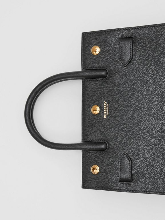 Mini Leather Two-handle Title Bag in Black - Women | Burberry - cell image 1