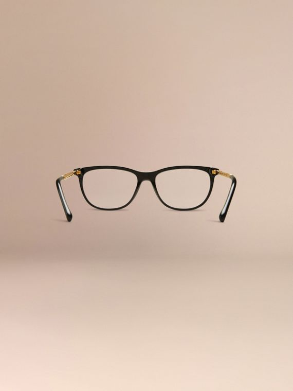 Gabardine Collection Cat-Eye Optical Frames Black - cell image 3