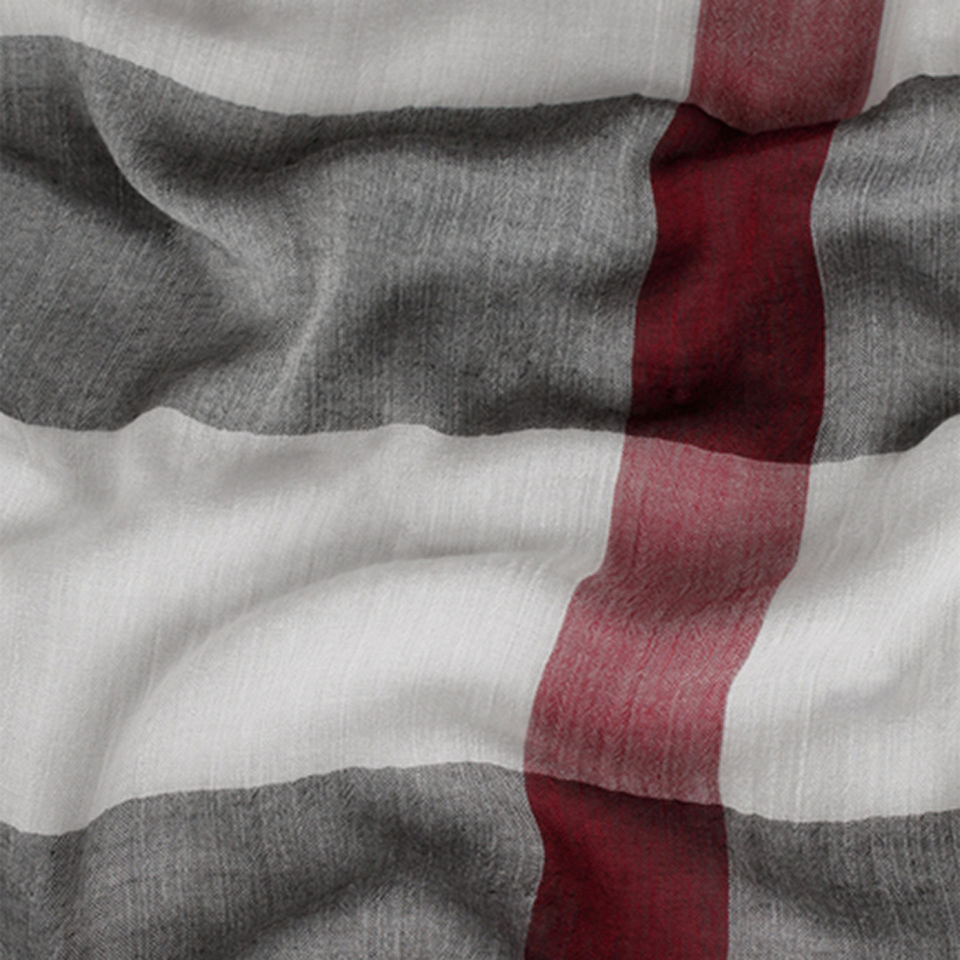 Check Modal Cashmere and Silk Scarf in Ivory | Burberry United Kingdom - gallery image 1