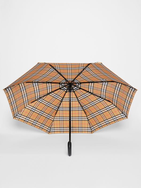 Vintage Check Folding Umbrella in Antique Yellow | Burberry United States - cell image 2