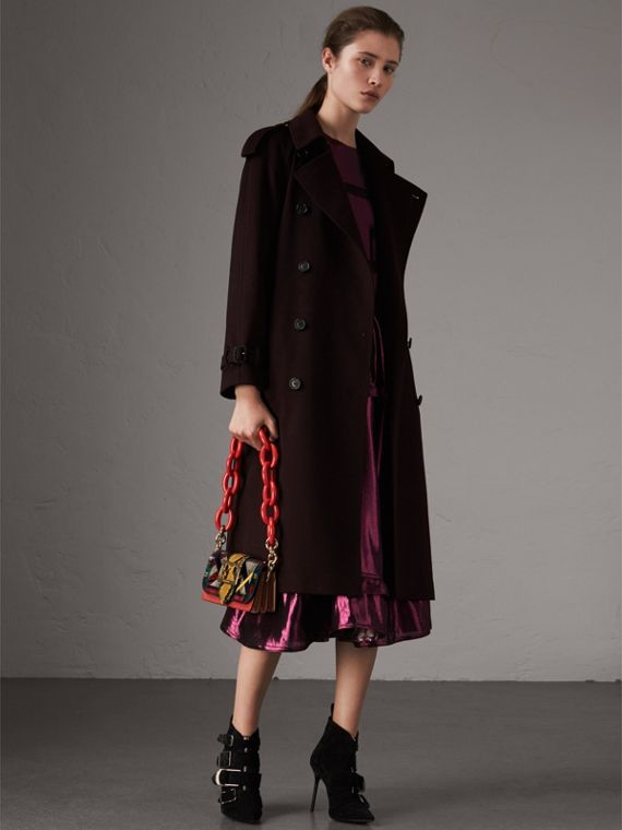 Trench coat in cashmere (Ribes Nero)