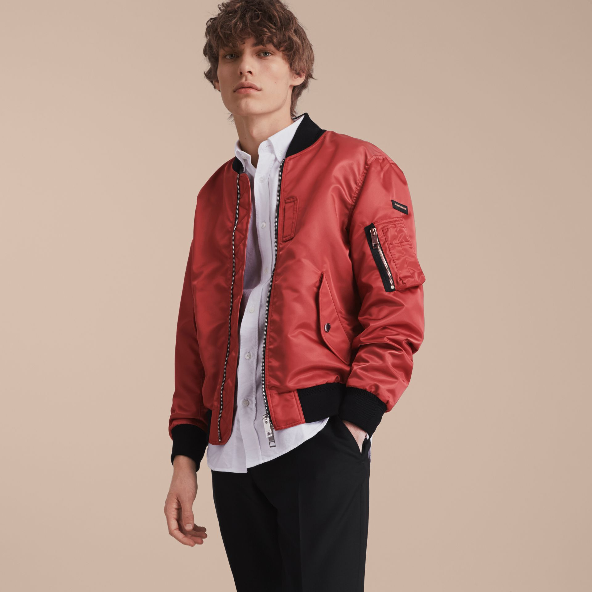 Technical Bomber Jacket in Rose Pink - gallery image 7