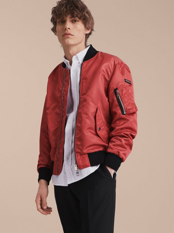 Technical Bomber Jacket Rose Pink