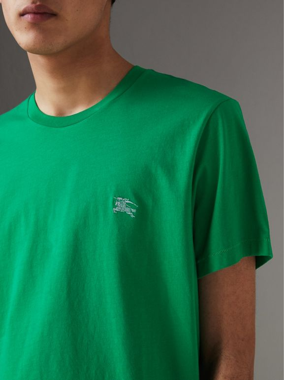 Cotton Jersey T-shirt in Bright Green - Men | Burberry Singapore - cell image 1