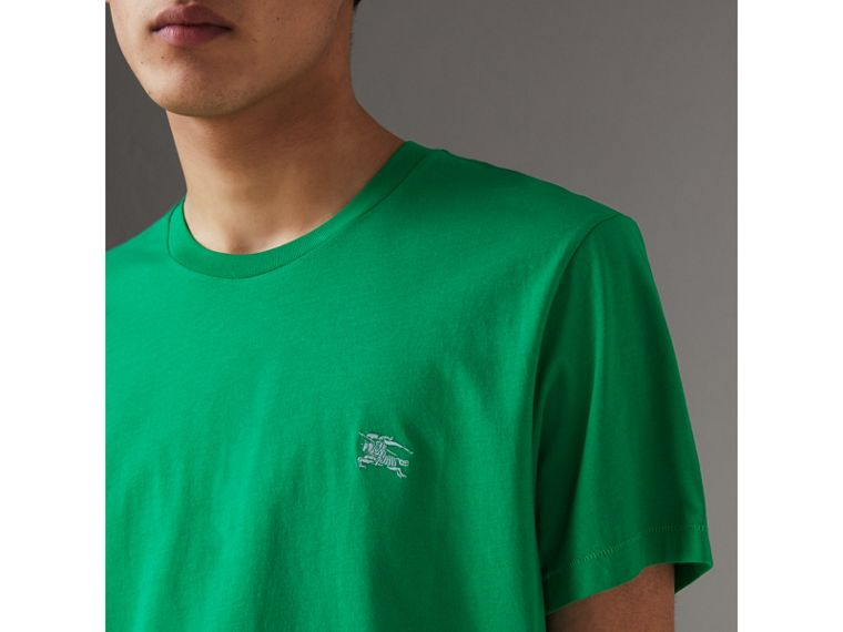 Cotton Jersey T-shirt in Bright Green - Men | Burberry - cell image 1