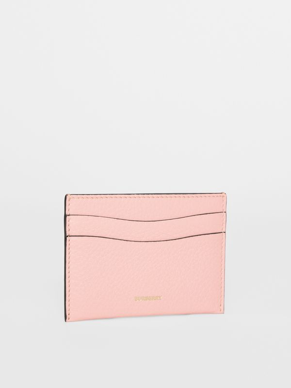 Grainy Leather Card Case in Pale Ash Rose | Burberry Australia - cell image 3