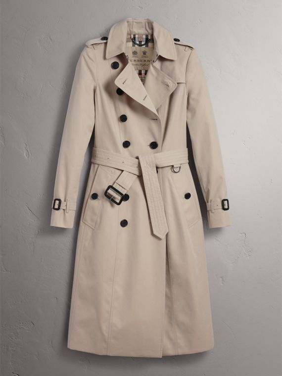 The Chelsea – Extra-long Trench Coat in Stone - Women | Burberry Canada - cell image 3