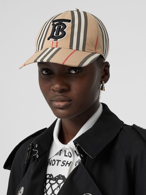 Icon Stripe Baseball Cap in Archive Beige | Burberry - cell image 2