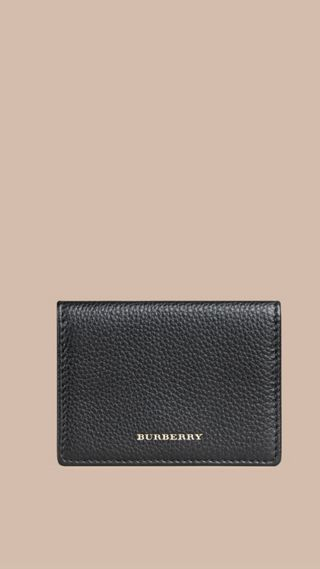 Grainy Leather Foldover Card Case