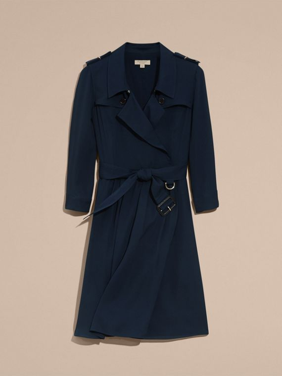 Silk Trench Dress Navy - cell image 3