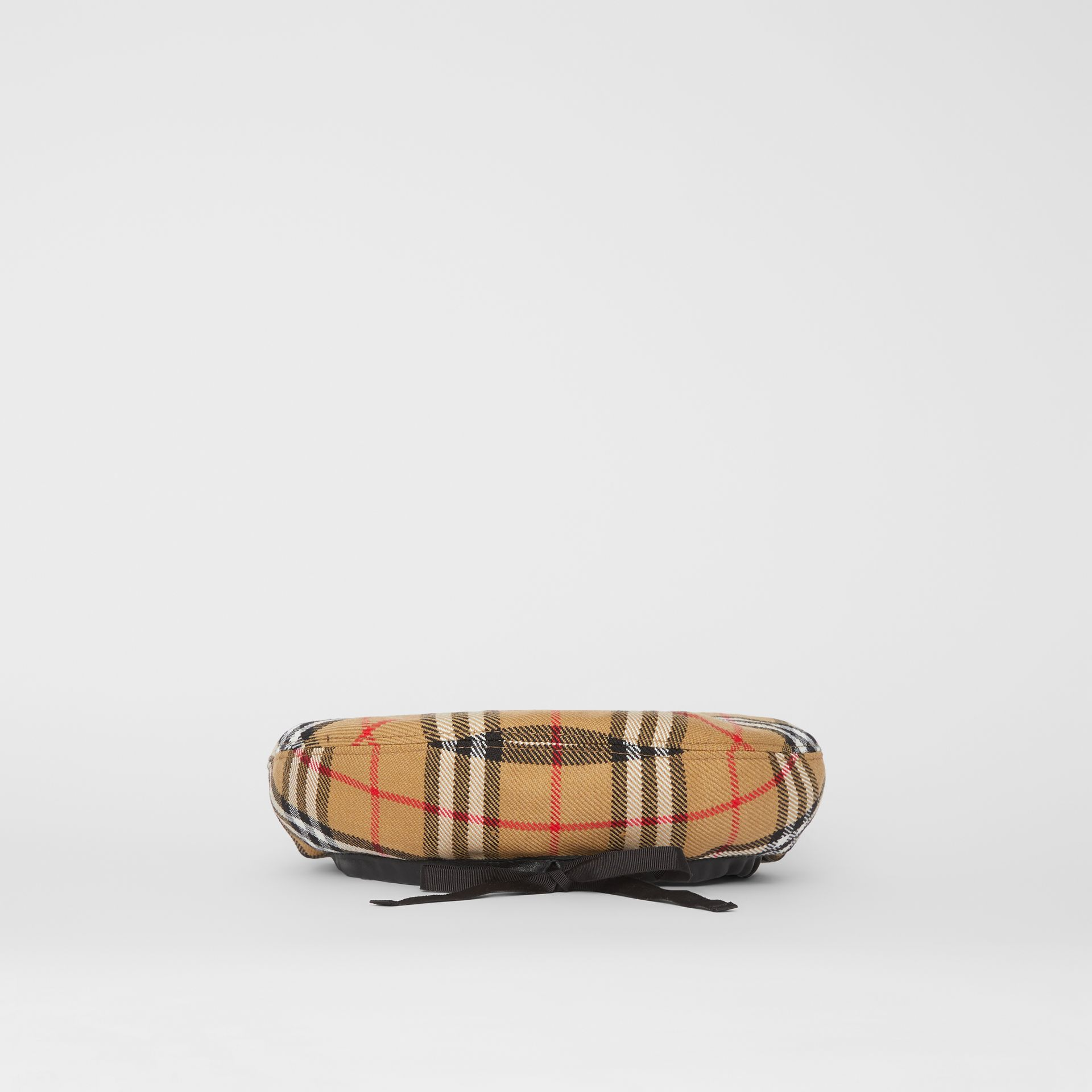 Pin Detail Vintage Check Wool Beret in Antique Yellow | Burberry Singapore - gallery image 4