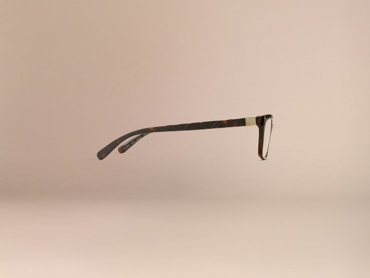 Tortoiseshell Check Detail Rectangular Optical Frames Tortoiseshell - cell image 4