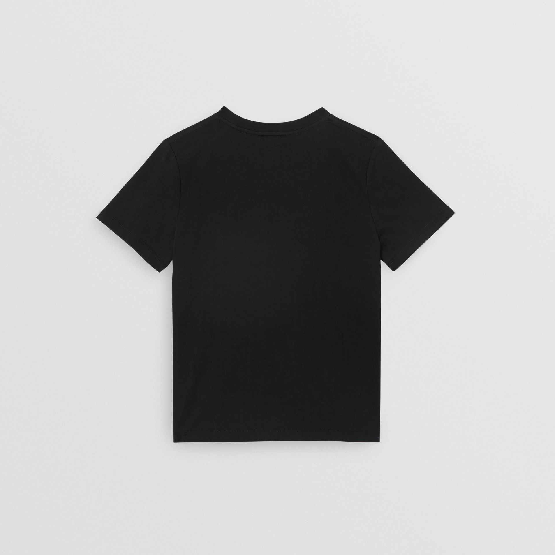 Logo Print Cotton T-shirt in Black | Burberry - gallery image 4