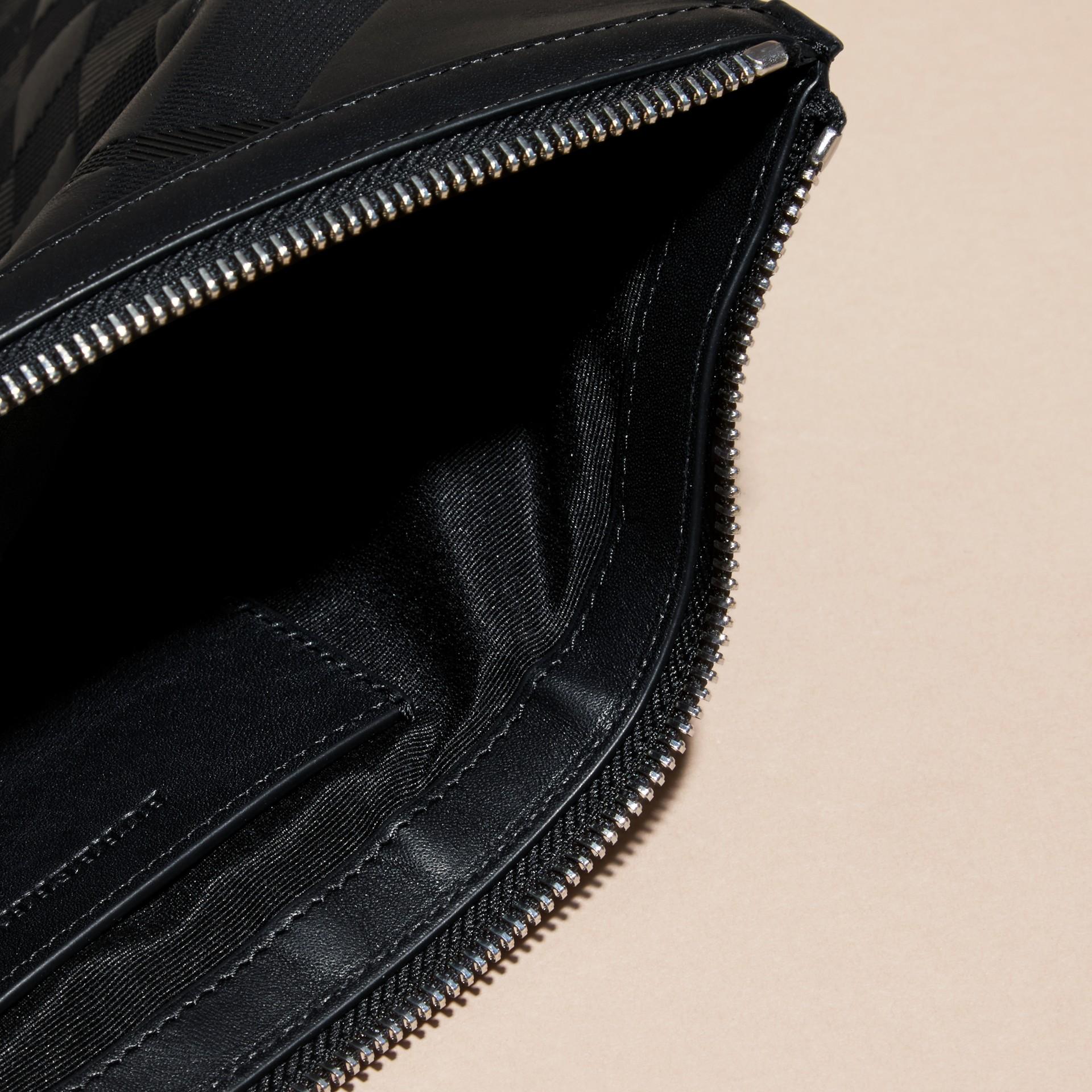 Черный Сумка-кошелек из кожи с тиснением Черный - изображение 5