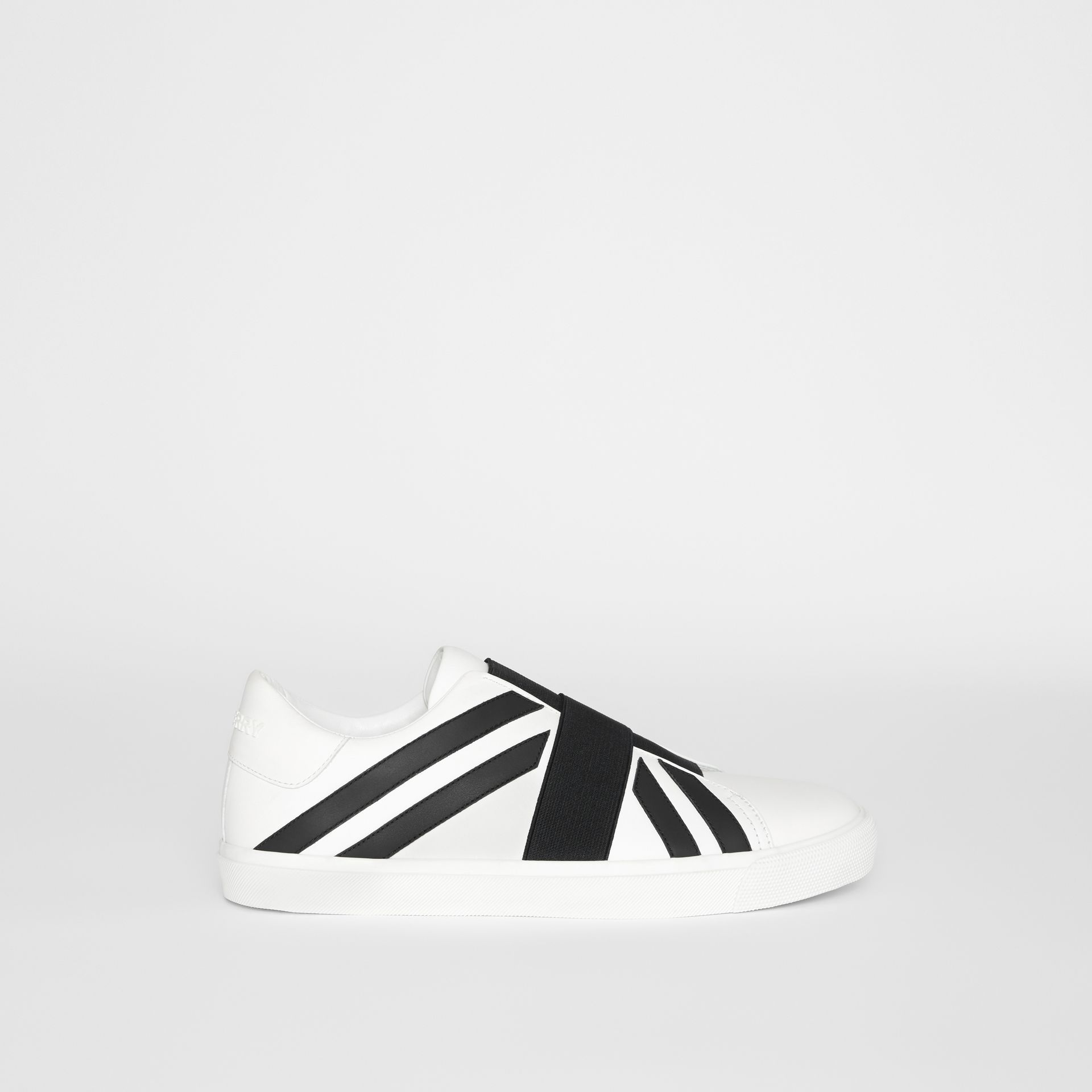 Union Jack Motif Slip-on Sneakers in White - Men | Burberry - gallery image 5