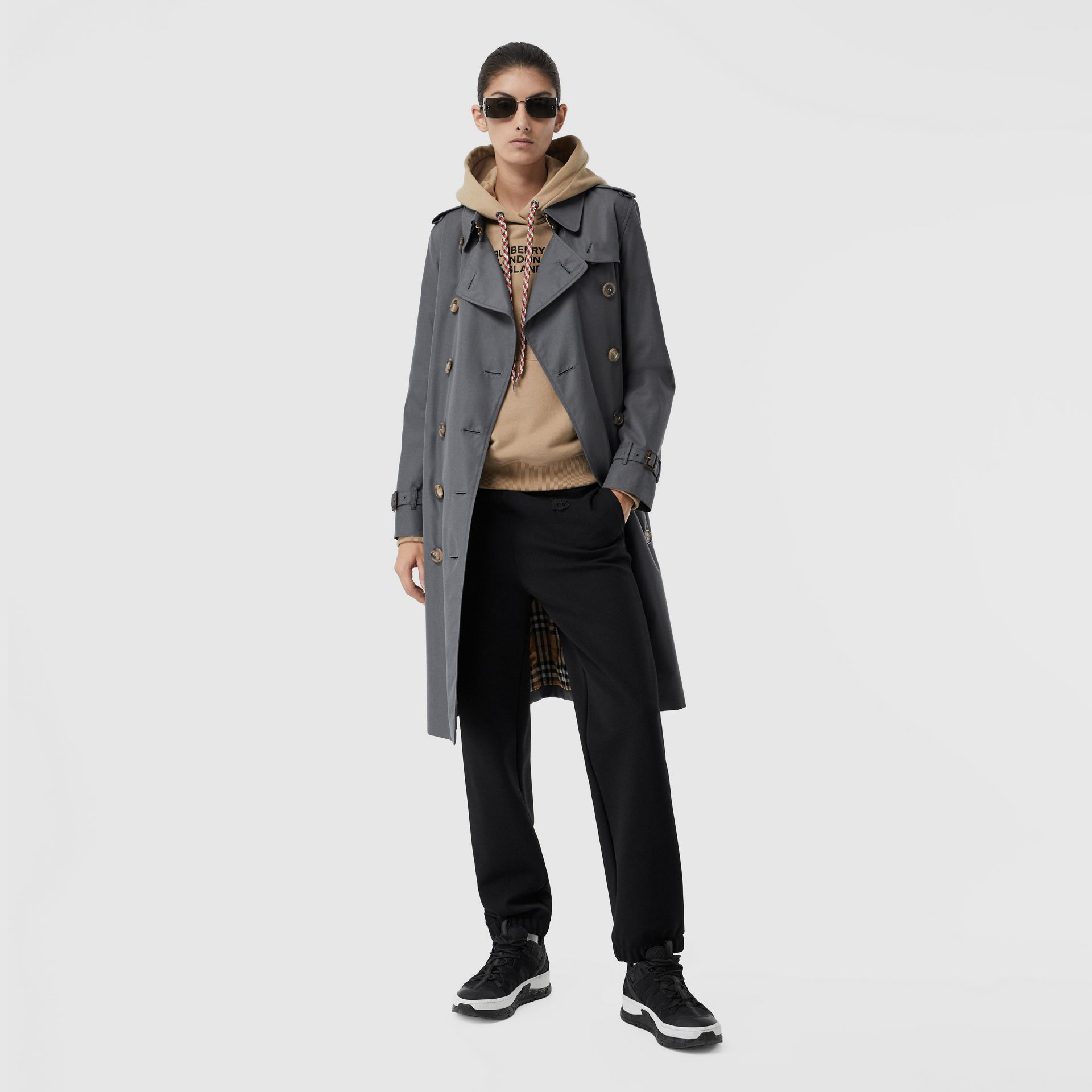 The Kensington – Trench Heritage long (Gris Moyen) - Femme | Burberry Canada - photo de la galerie 0