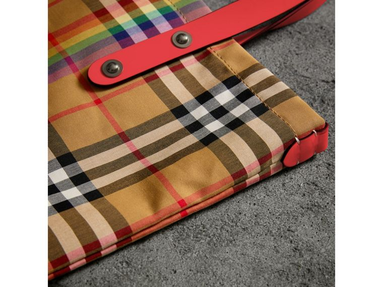 Large Rainbow Vintage Check Shopper in Bright Peony | Burberry - cell image 1