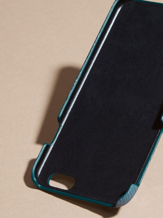 Custodia per iPhone 6 in pelle a grana (Blu Alzavola Polvere) | Burberry - cell image 3