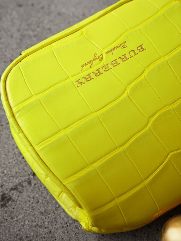 Mini Alligator Frame Bag in Neon Yellow - Women | Burberry - cell image 1