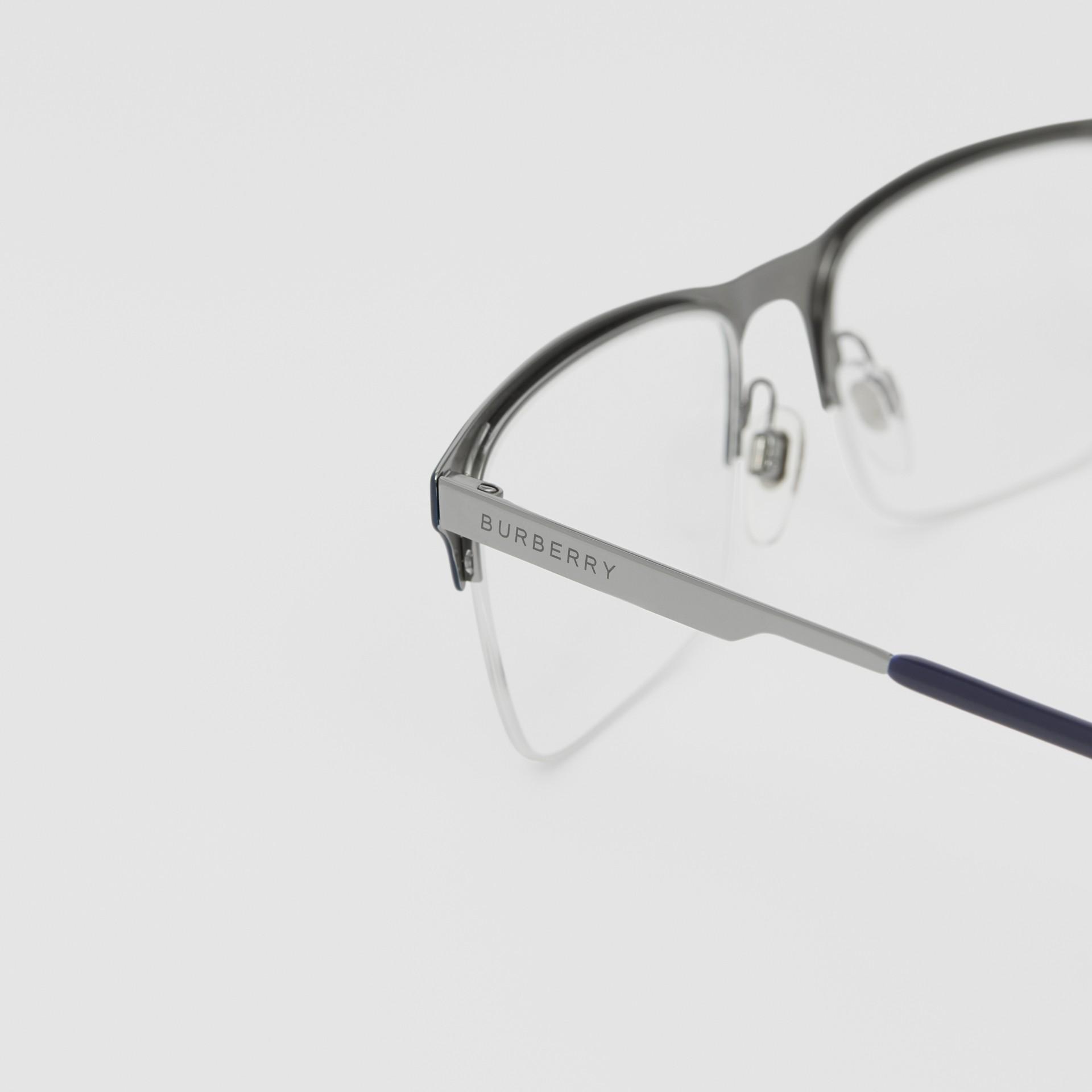 Rectangular Optical Frames in Deep Blue - Men | Burberry - gallery image 1
