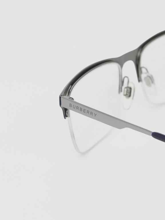 Rectangular Optical Frames in Deep Blue - Men | Burberry - cell image 1