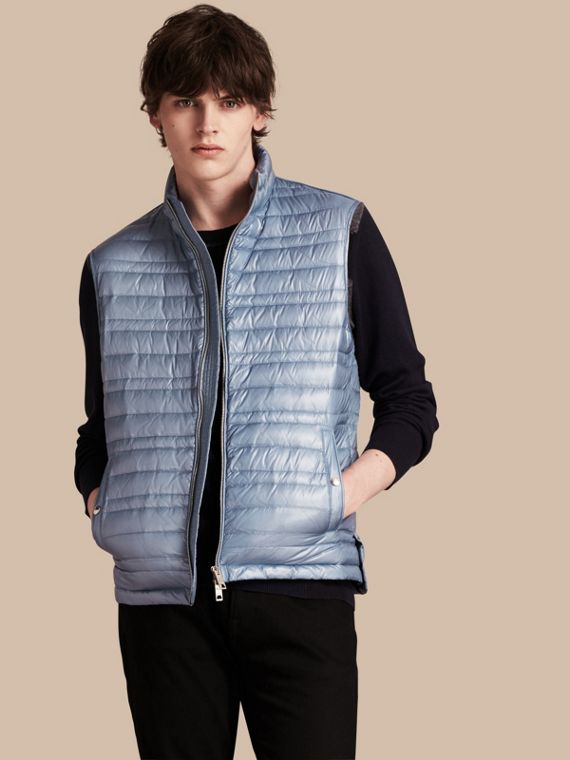 Lightweight Down-filled Gilet Pale Blue