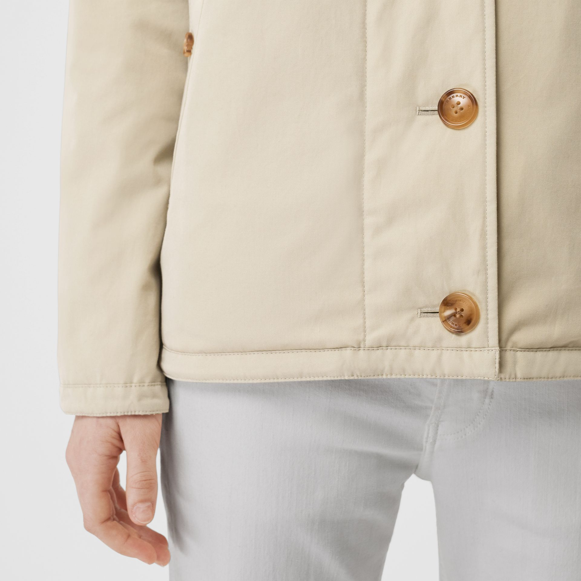 Reversible Quilted Cotton Jacket in Natural White - Women | Burberry - gallery image 5