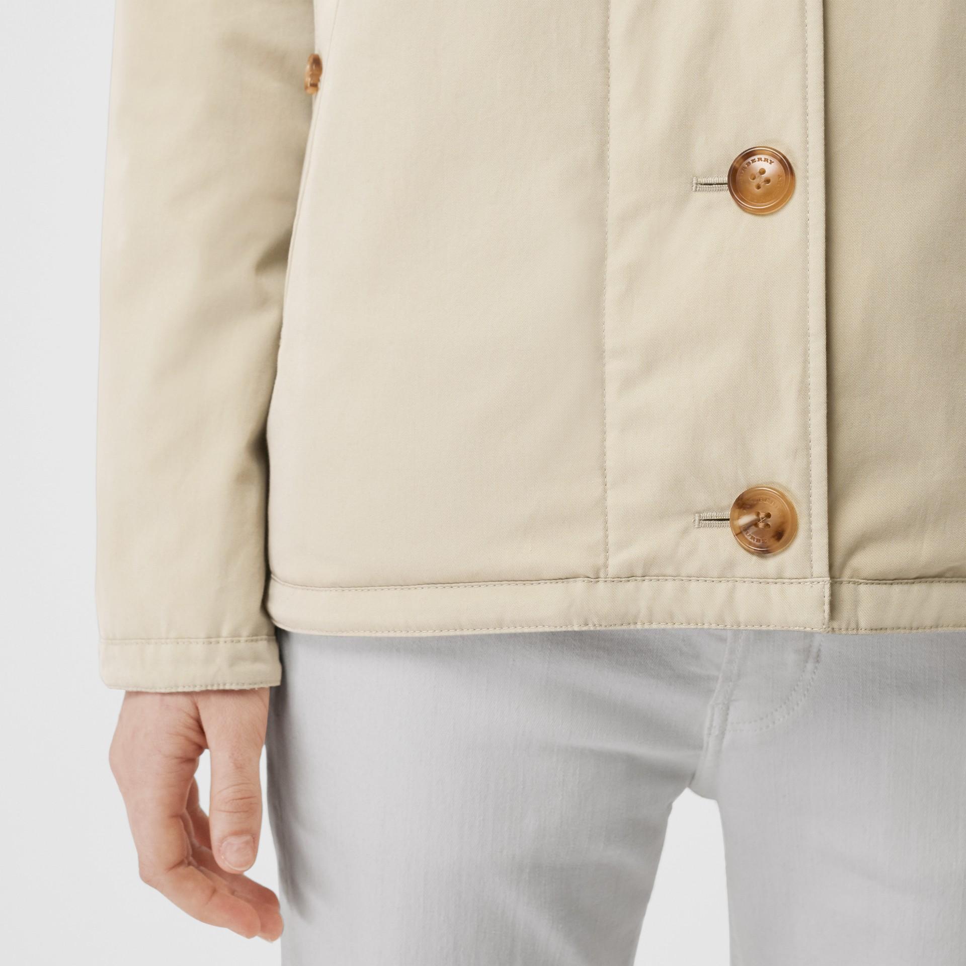 Giacca reversibile in cotone trapuntato (Bianco Naturale) - Donna | Burberry - immagine della galleria 5