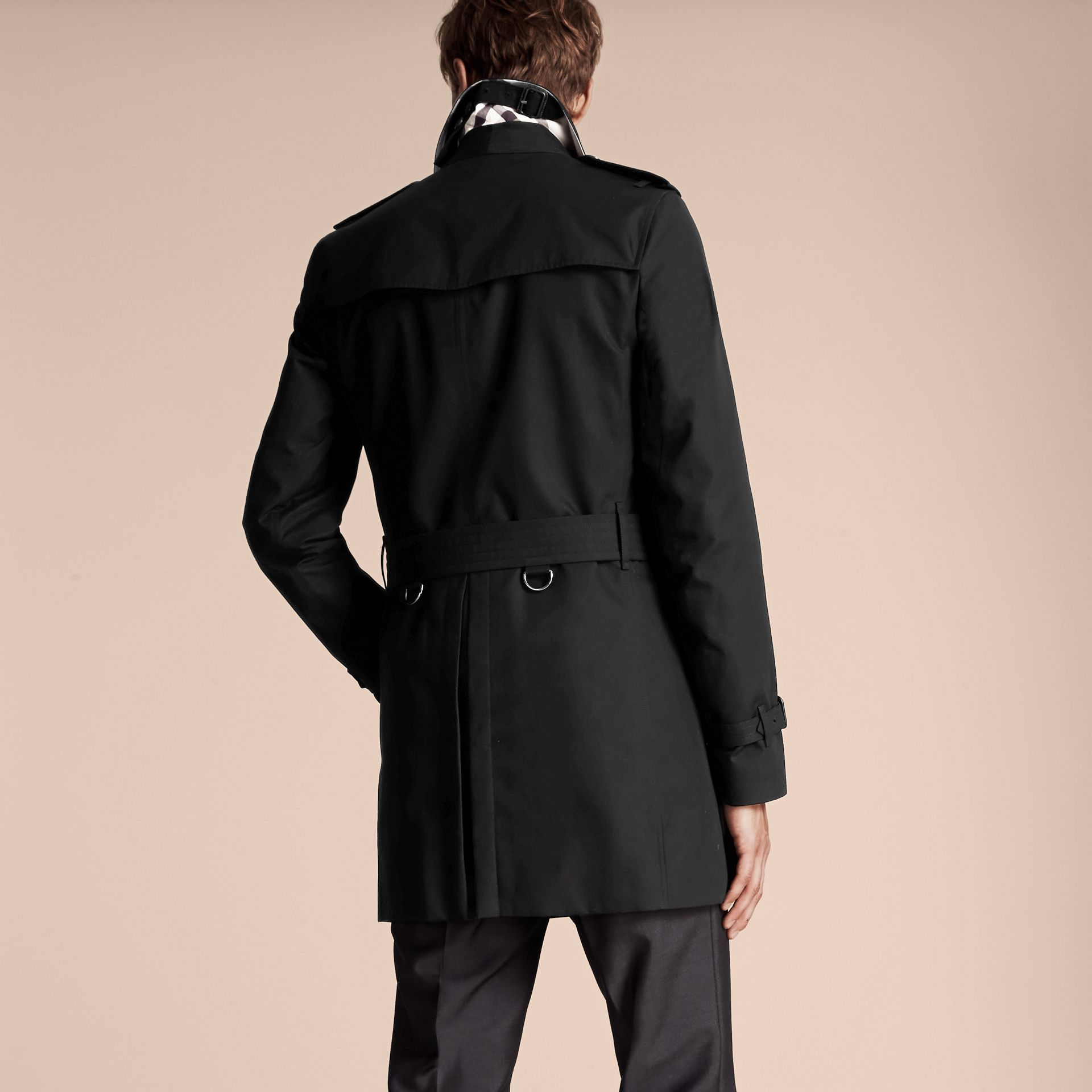 Black The Sandringham – Mid-length Heritage Trench Coat Black - gallery image 3