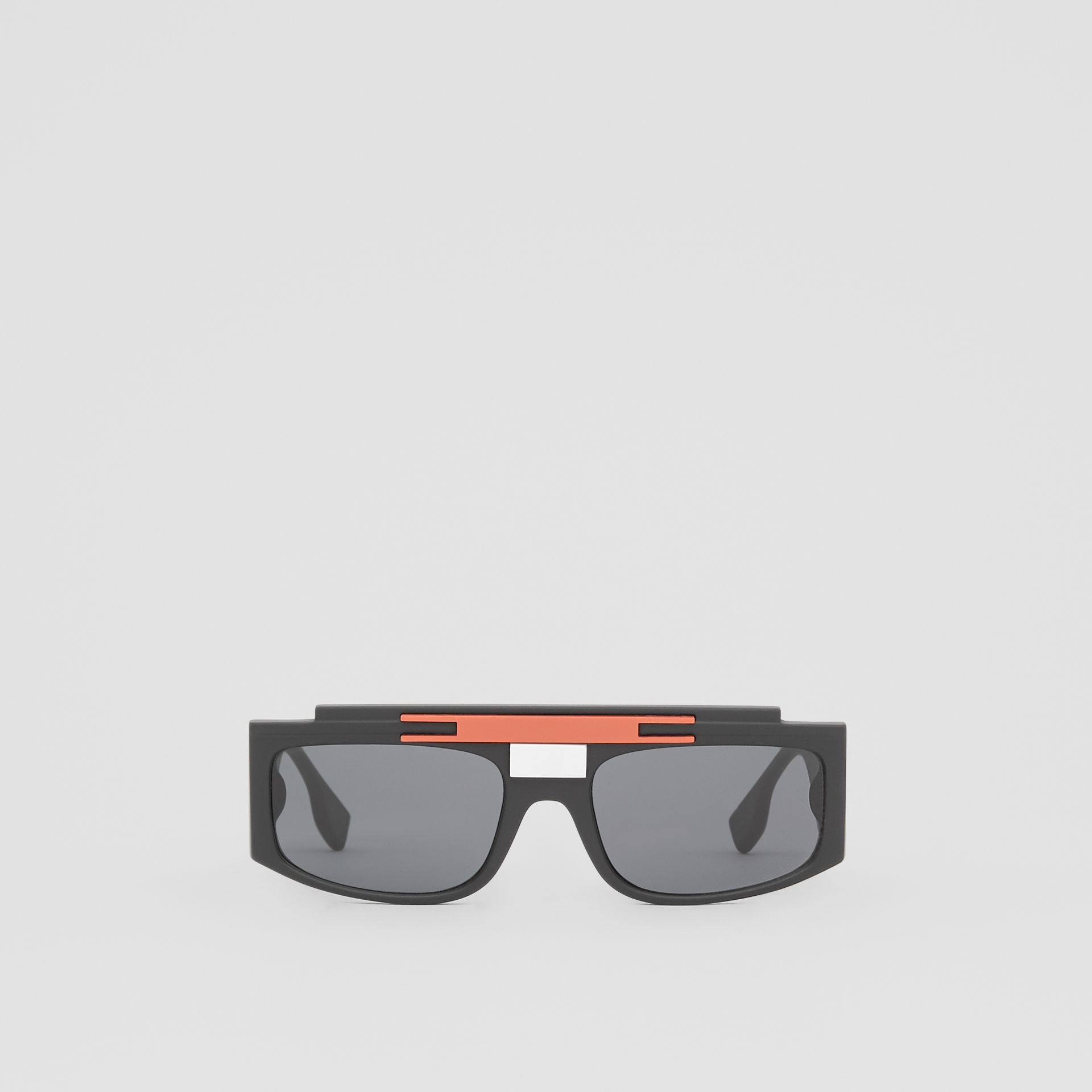 Rectangular Frame Sunglasses in Black - Women | Burberry - gallery image 0