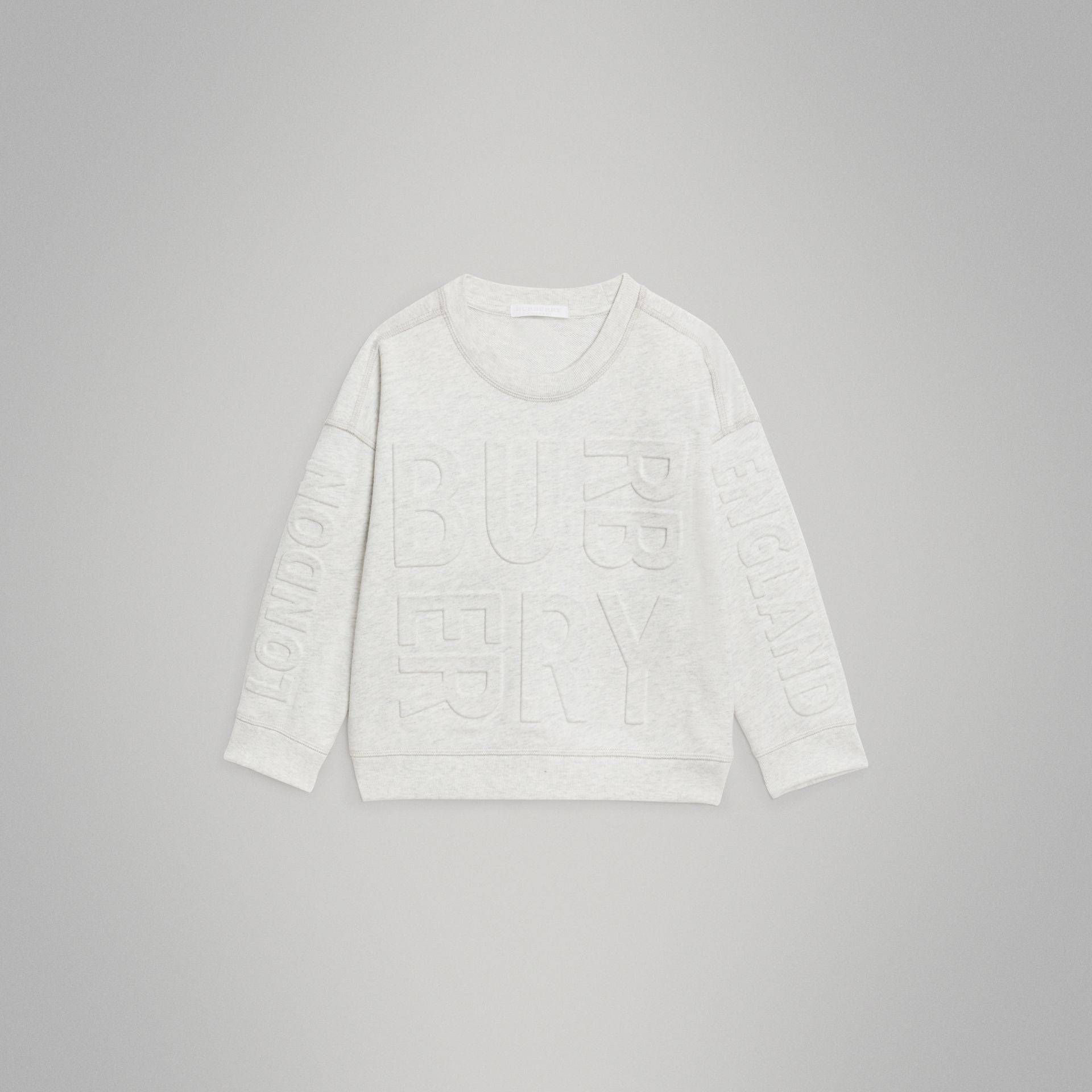 Sweat-shirt en coton avec logo estampé (Camaïeu De Blancs) | Burberry - photo de la galerie 0