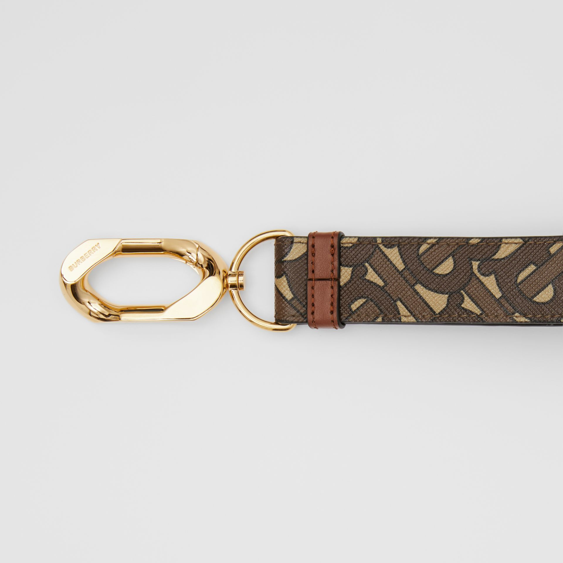 Monogram Print E-canvas Charm in Bridle Brown - Women | Burberry - gallery image 1