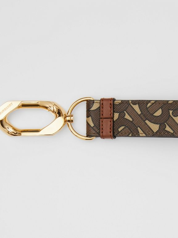 Monogram Print E-canvas Charm in Bridle Brown - Women | Burberry - cell image 1