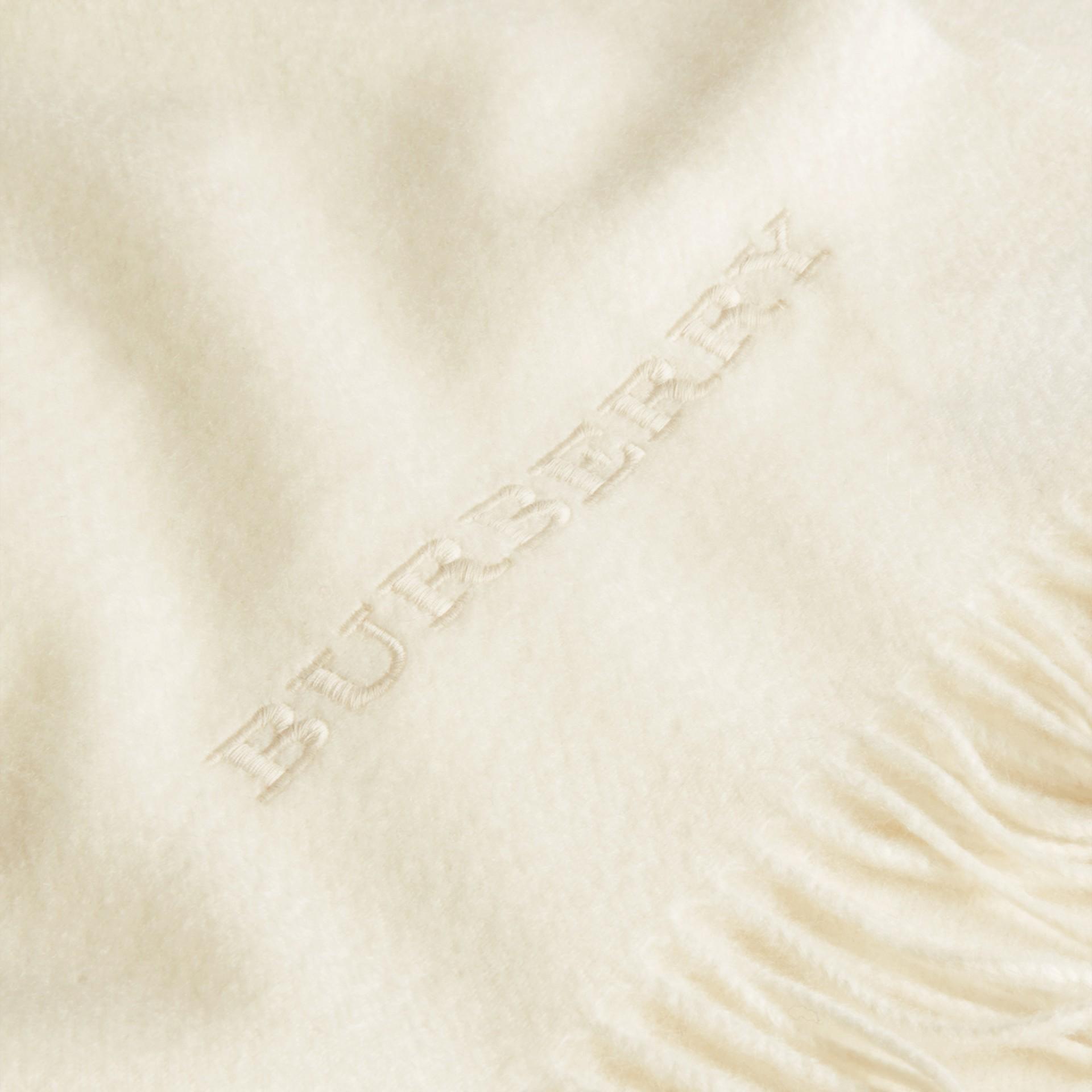 Blanc naturel Couverture en cachemire Blanc Naturel - photo de la galerie 2