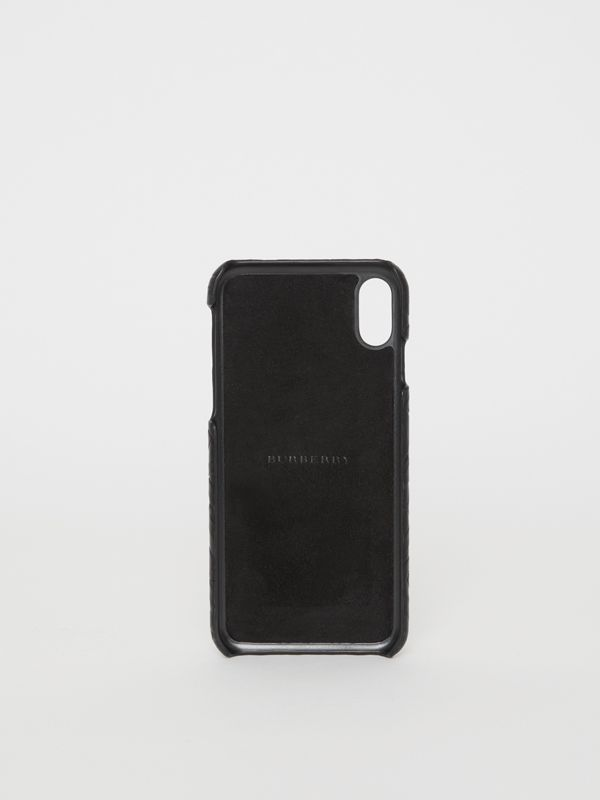 Coque pour iPhone X/XS en cuir Monogram (Noir) | Burberry - cell image 2