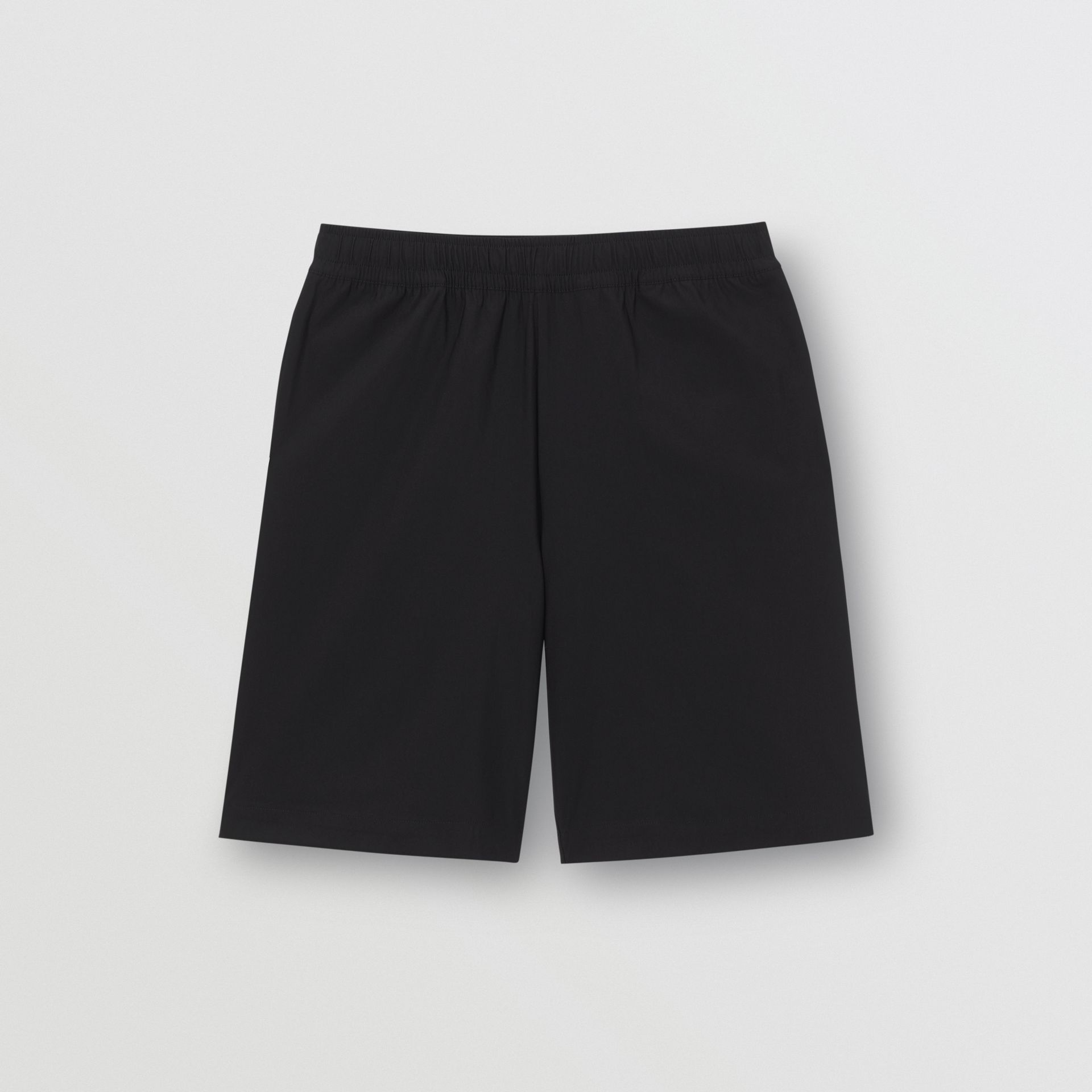 Logo Print Stretch Nylon Shorts in Black - Men | Burberry - gallery image 3