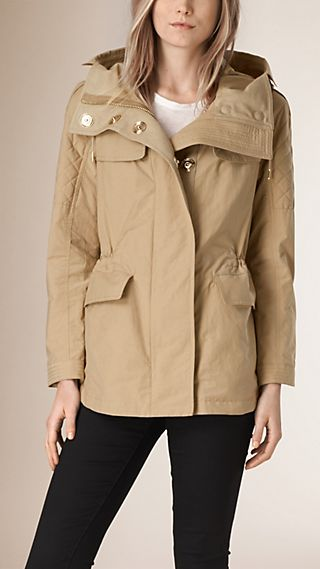 Technical Cotton Blend Parka