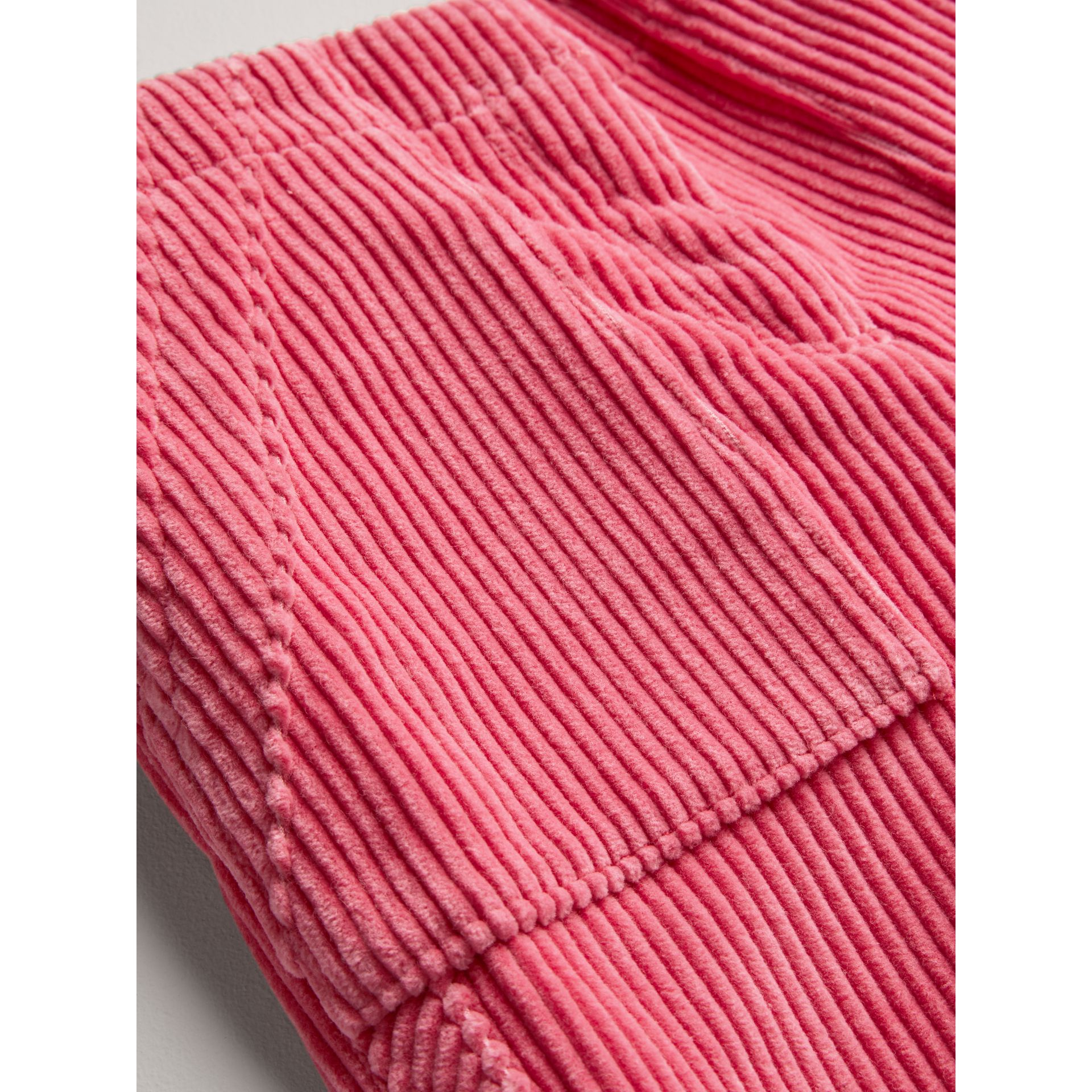 Corduroy Wide-leg Trousers in Bright Rose - Girl | Burberry Canada - gallery image 1