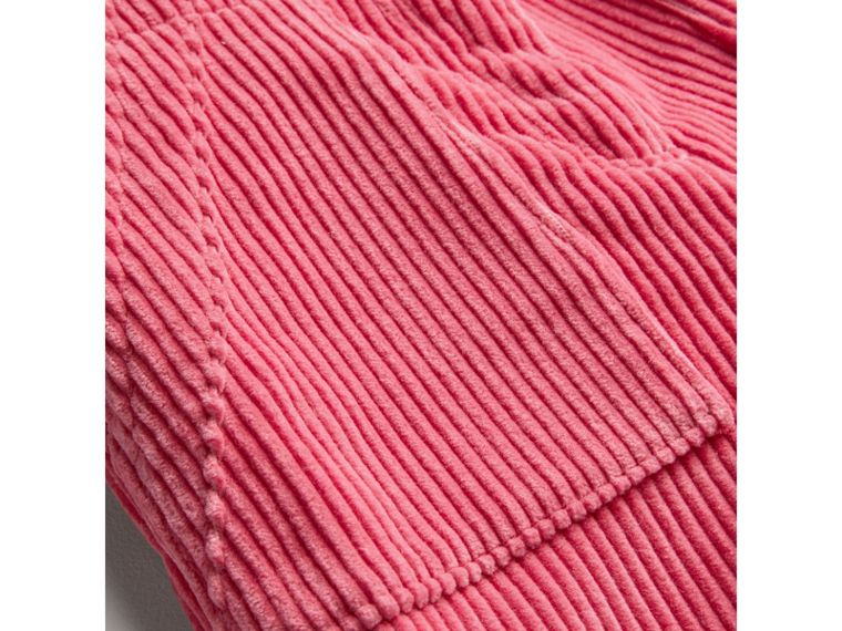 Corduroy Wide-leg Trousers in Bright Rose - Girl | Burberry Singapore - cell image 1