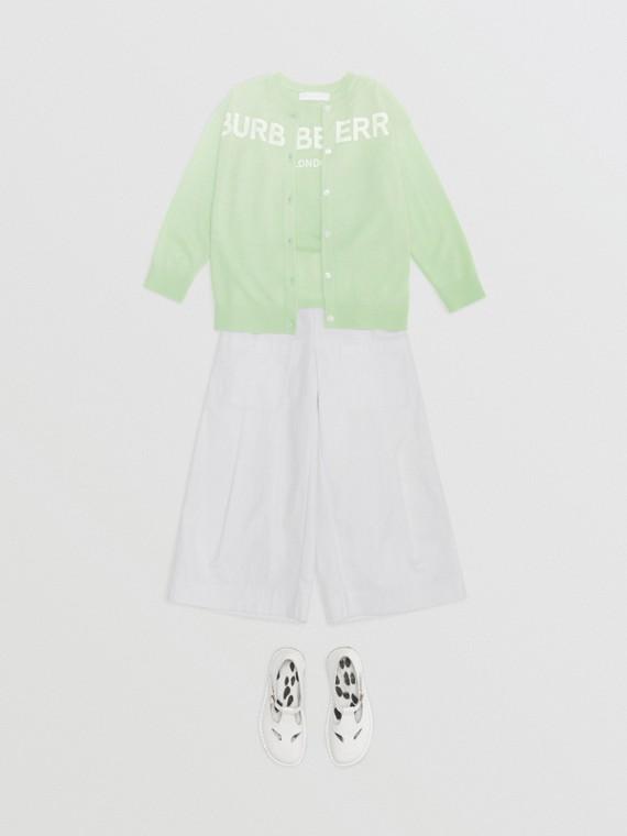 棉質混紡水手風長褲 (白色)