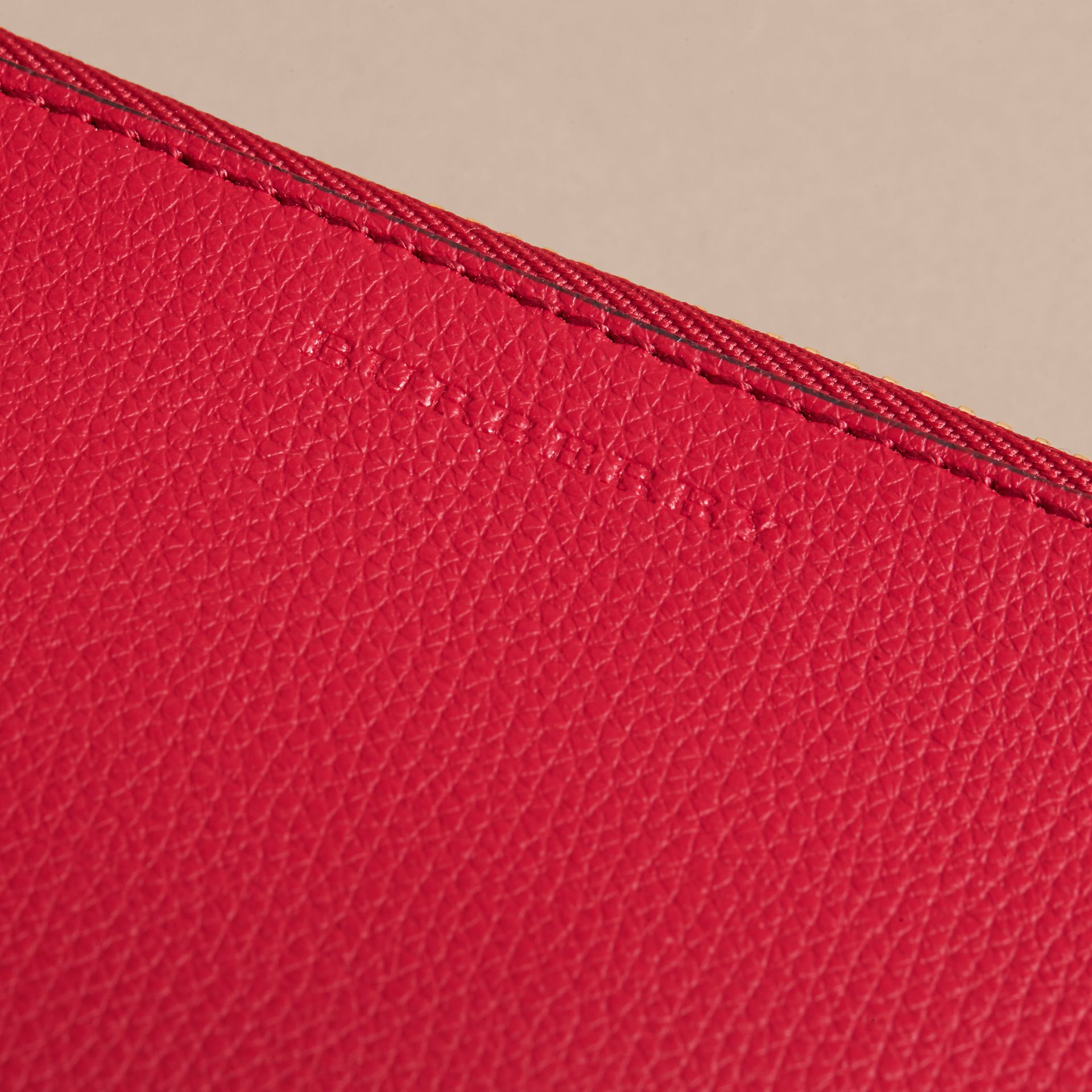 Haymarket Check and Leather Pouch in Poppy Red - Women | Burberry Canada - gallery image 2