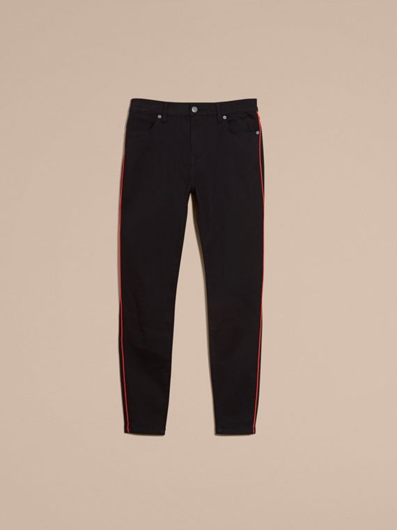 Skinny Fit Stretch Jeans with Piping Detail - cell image 3