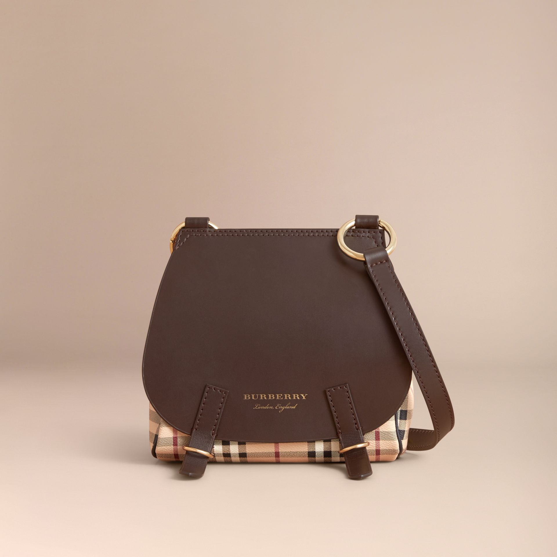 The Bridle Crossbody Bag in Haymarket Check - Women | Burberry - gallery image 7