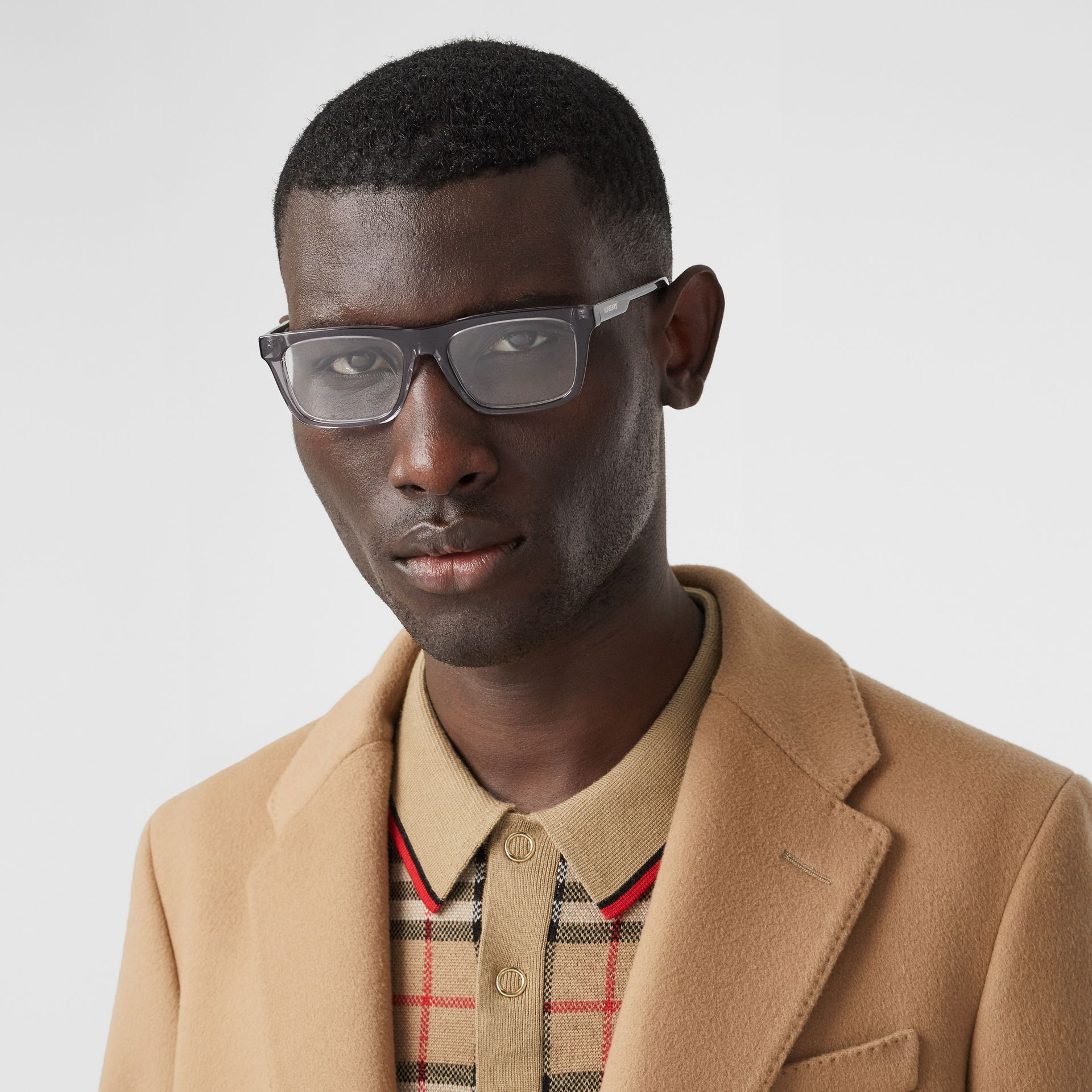 Rectangular Optical Frames in Grey - Men | Burberry Australia - gallery image 2