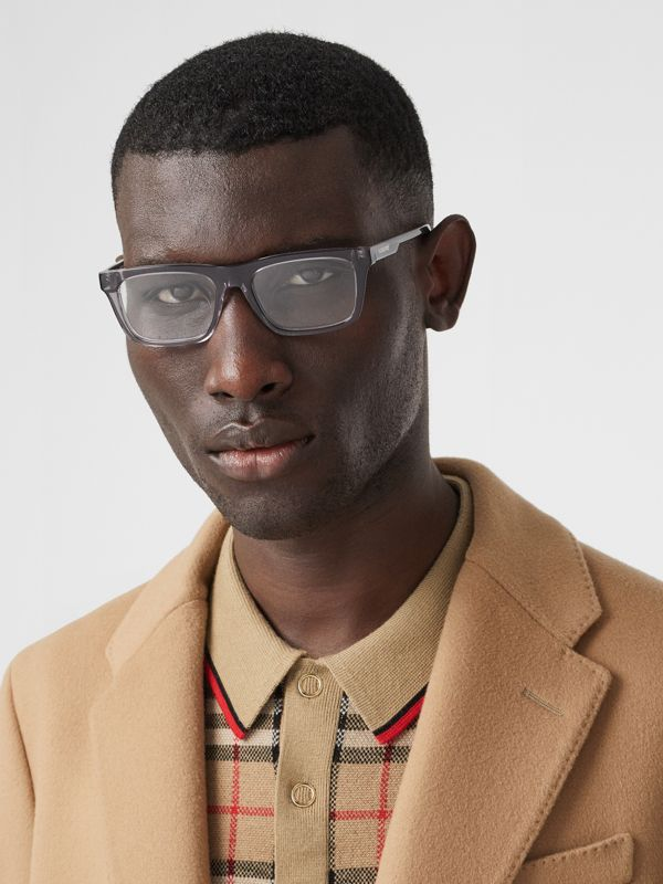 Rectangular Optical Frames in Grey - Men | Burberry Australia - cell image 2