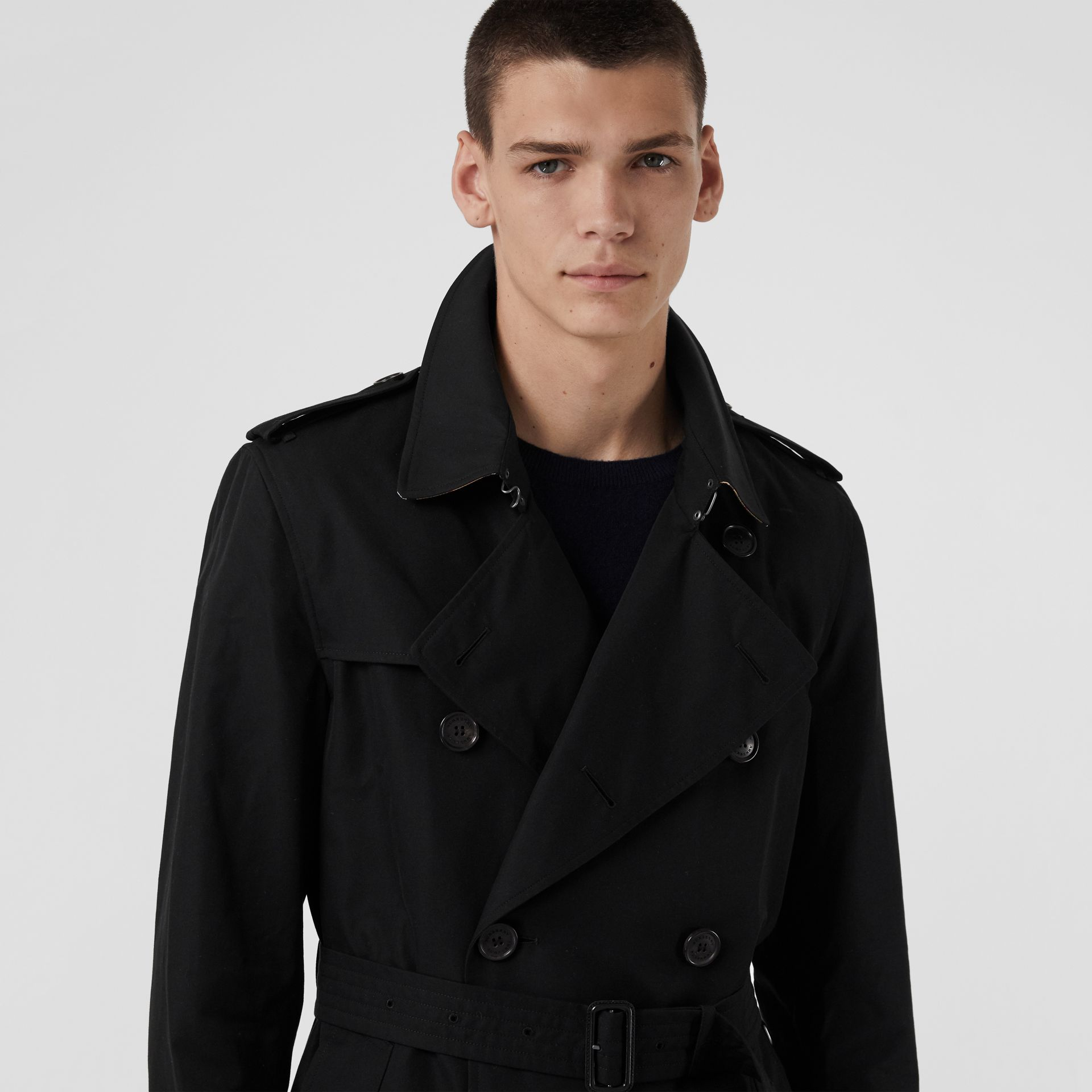 Trench Heritage The Kensington (Noir) | Burberry Canada - photo de la galerie 4