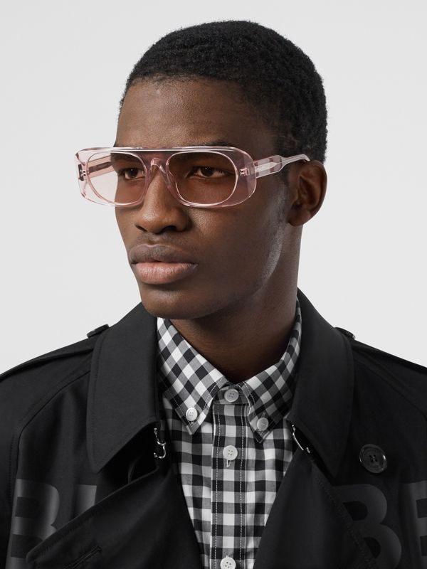 Blake Sunglasses in Transparent Pink | Burberry - cell image 2