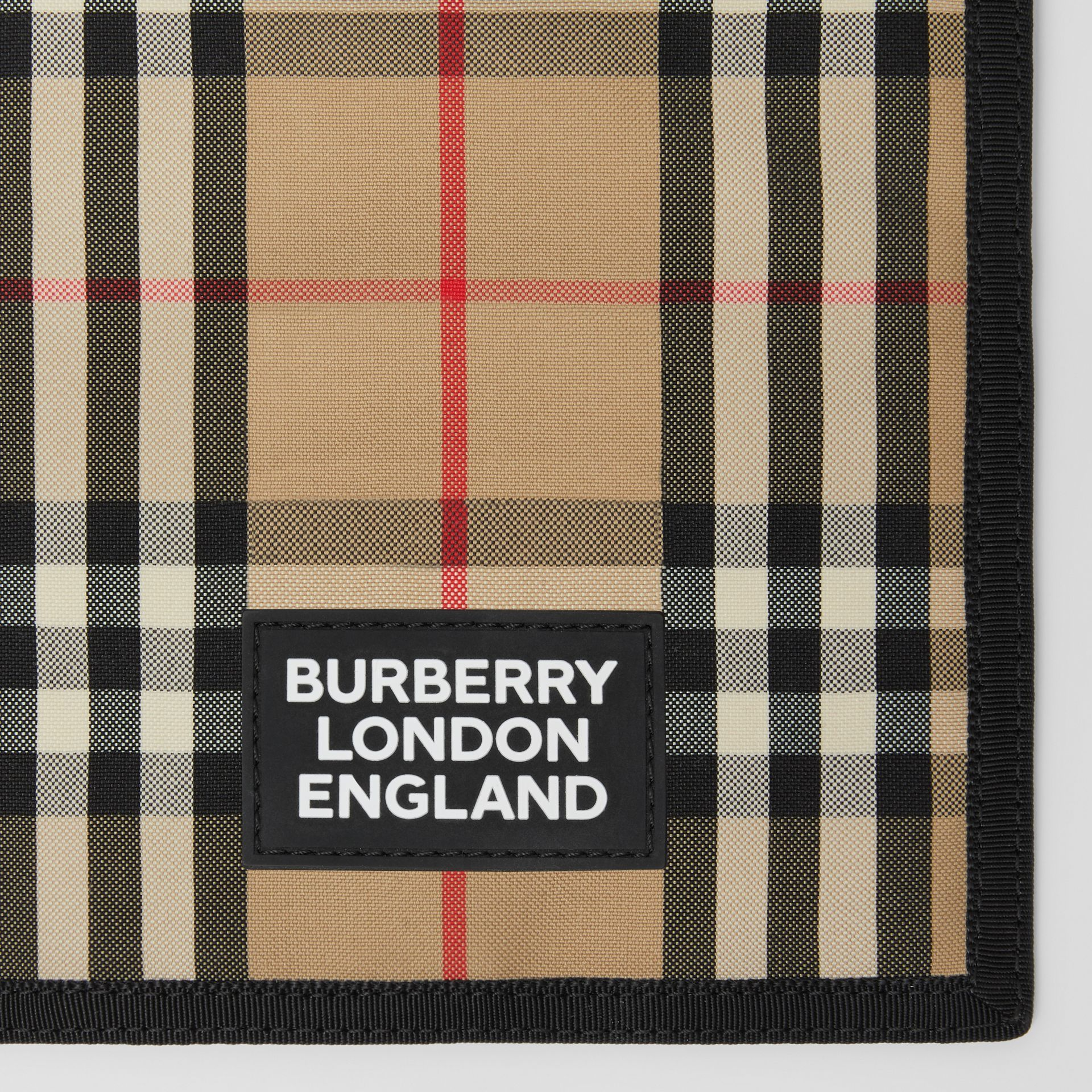 Logo Appliqué Vintage Check Phone Case Lanyard in Archive Beige | Burberry - gallery image 1