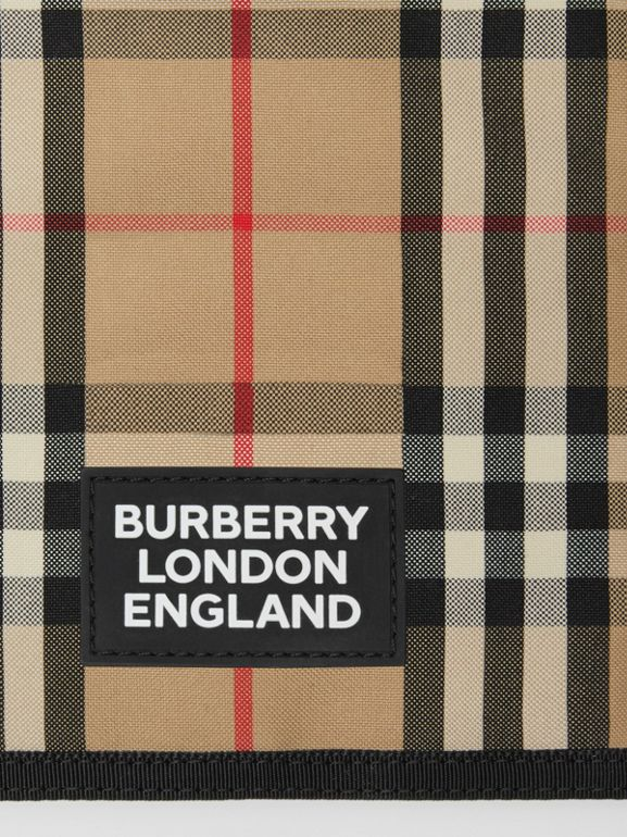 Logo Appliqué Vintage Check Phone Case Lanyard in Archive Beige | Burberry - cell image 1
